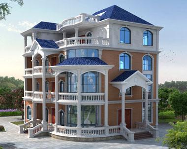 欧式豪华四层复式大型别墅设计效果图