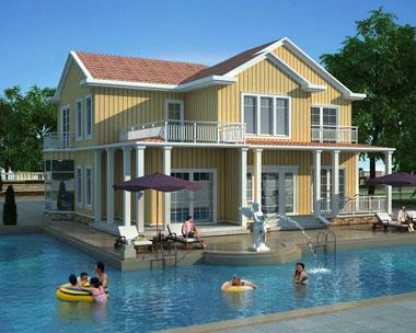 占地240平米二层现代风格别墅效果图设计
