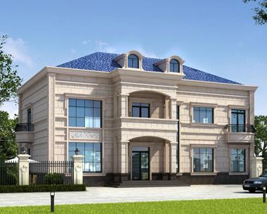 占地230平米二层大气实用私家别墅效果图
