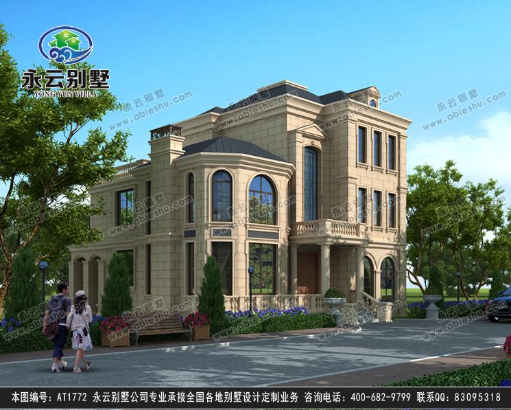 法式风格三层豪华大气复式楼别墅设计效果图