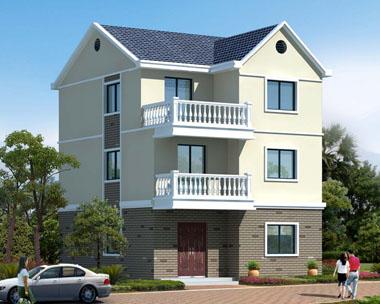 三层简洁实用农村自建房屋设计效果图