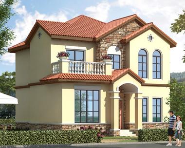 二层漂亮私人自建小别墅设计外观效果图