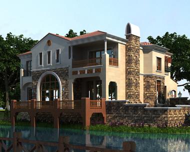 奢华大气西班牙风格二层带地下室及下沉庭院全套别墅图纸