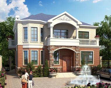 二层私人农村自建简洁实用别墅效果图设计