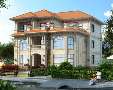 三层/室内错层豪华私家别墅外观效果图设计