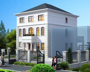 浪漫法式别墅设计图[送庭院设计]2018三层小别墅图纸9.5mX17.1m