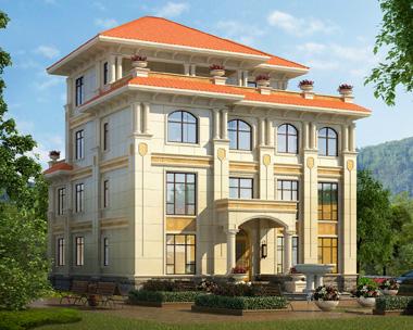 私人定制欧式沉稳大气四层复式楼中楼别墅设计施工图纸15.6mX17.1m