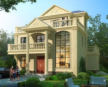 2019新款欧式三层复式楼小别墅建筑设计外观效果图