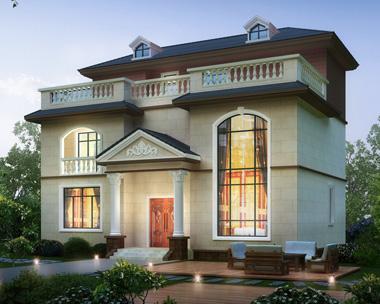 新款简约风格三层复式楼中楼带堂屋休闲露台别墅设计图纸