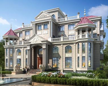 【新款】高端豪宅复式带电梯四层别墅建筑设计图纸35.8mx19m