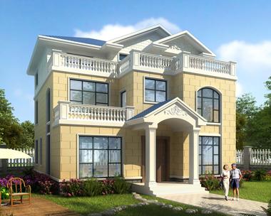图纸之家2019乡村别墅新农村自建房屋设计三层别墅全套11.5mX13m