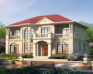 新农村豪华二层带柴火房欧式别墅设计施工图纸16.6mX15.8m