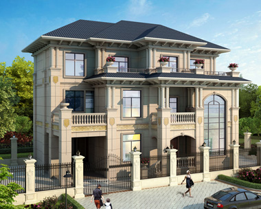 2020新款私人定制三层带车库复式别墅设计施工效果图