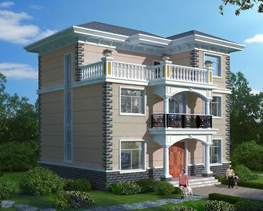 新农村自建房三层简约大方别墅设计全套施工外观效果图