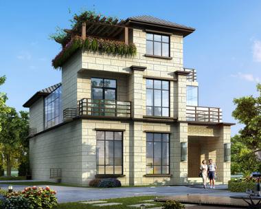 新亚洲风格三层带内庭院漂亮别墅设计全套施工图纸10.5mX18m