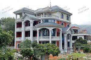 福建莆田AT1753四层别墅施工案例,奢华欧式别墅,惊艳乡里。