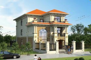 开间8米左右的3款小别墅,第3款豪华、大气,美极了