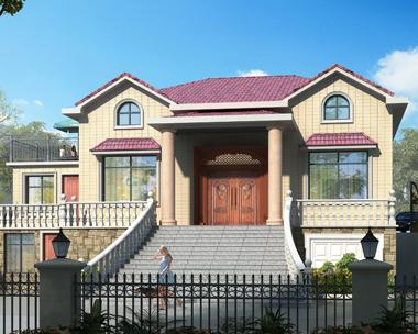 豪华大气一层带阁楼带架空层别墅设计全套施工图纸14.2mX12m