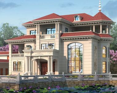 2020年新款欧式风格三层高端豪华复式楼别墅设计施工图纸21mX18.7m