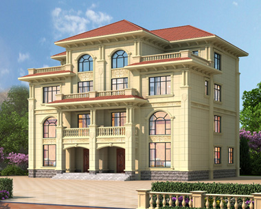简欧四层双拼漂亮复式楼带电梯别墅设计施工图纸18.7mX15.1m