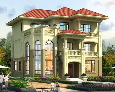2020新款豪华大气三层复式楼别墅设计施工图纸12mX12.3m