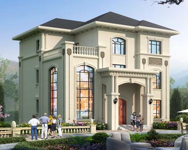 2020年新款欧式沉稳大气豪华三层复式楼别墅设计施工图纸13mX13.6m