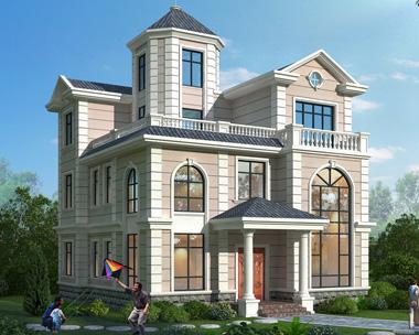 2020新品上市沉稳大方简欧风格三层别墅外观效果图欣赏