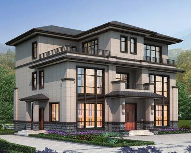 三层优雅大气新中式别墅设计全套施工图纸14.5mX12.3m