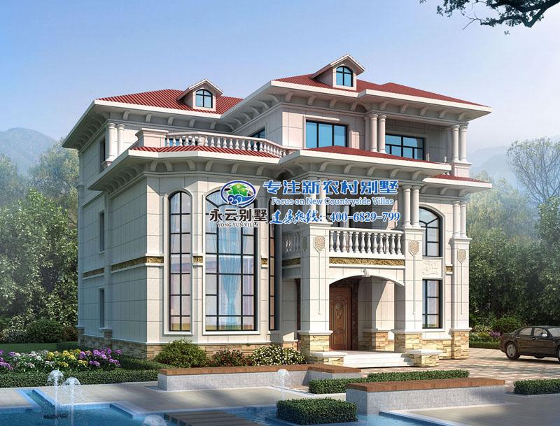 罗女士私人定制三层欧式别墅设计外观效果图案例欣赏