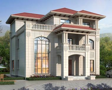 端庄大气简欧三层复式楼别墅设计全套施工图纸13.6mX11.3m