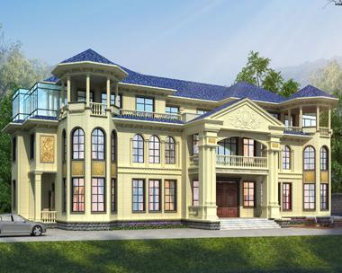 湘乡贺家兄弟双拼占地550平米豪华别墅定制设计案例欣赏