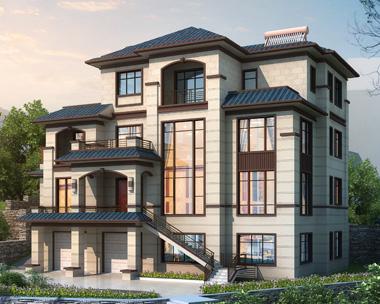 邵阳陈先生私人新中式别墅带庭院景观园林设计案例图欣赏