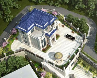 娄底涟源曾先生私人别墅带庭院景观设计案例欣赏附航拍图