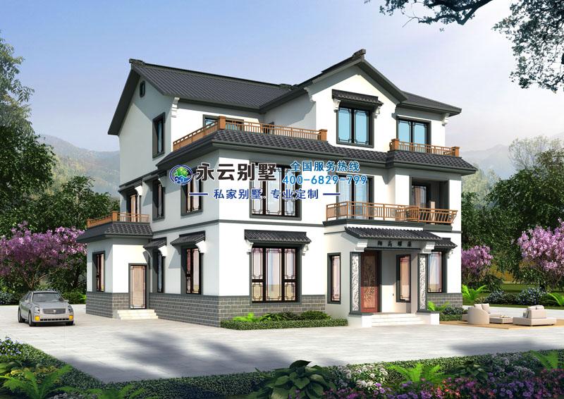 浏阳陈女士占地210平米中式风格别墅定制设计案例图欣赏