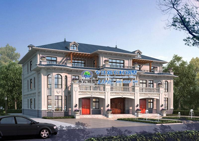 占地468平米衡阳罗氏三兄弟合建双拼别墅设计案例欣赏