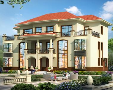 三层简单大方复式兄弟双拼别墅设计全套施工图纸21mX12.2m