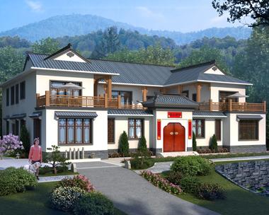 中式四合院别墅设计图纸