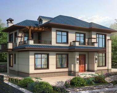 二层经典新中式风格别墅设计全套施工图纸16mX10.3m