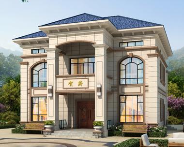 二层简欧风格带阁楼层别墅设计全套施工图纸12.5mX12.2m