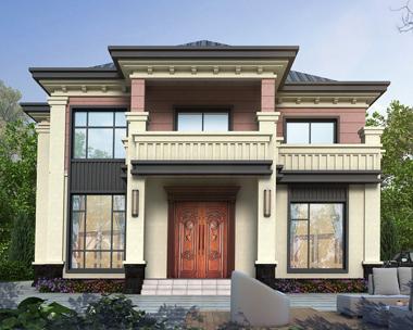 现代乡村二层新中式风格漂亮别墅设计全套施工图纸13.8mX11.9m