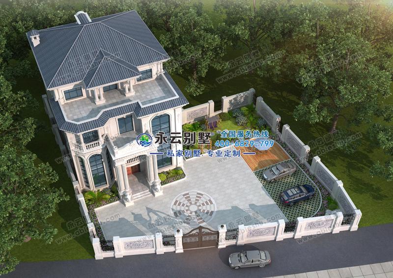 广东揭阳市温总占地800平米四层豪华欧式别墅图欣赏