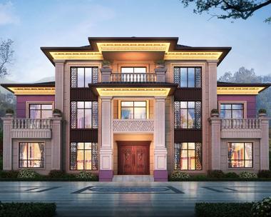 河北保定田先生占地300平米三层新中式别墅设计案例图欣赏