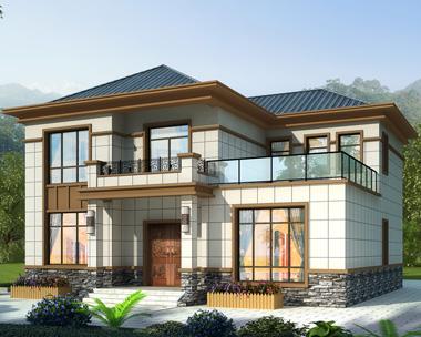 二层简约大方现代新中式风格别墅设计施工图纸13mX12m