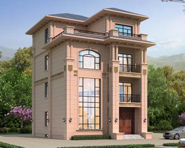 占地120平米二间四层带地下室小别墅全套施工图纸9mX11.9m