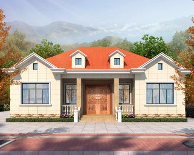 占地166平米一层简洁大方新款乡村别墅设计施工图纸14.9mX11m