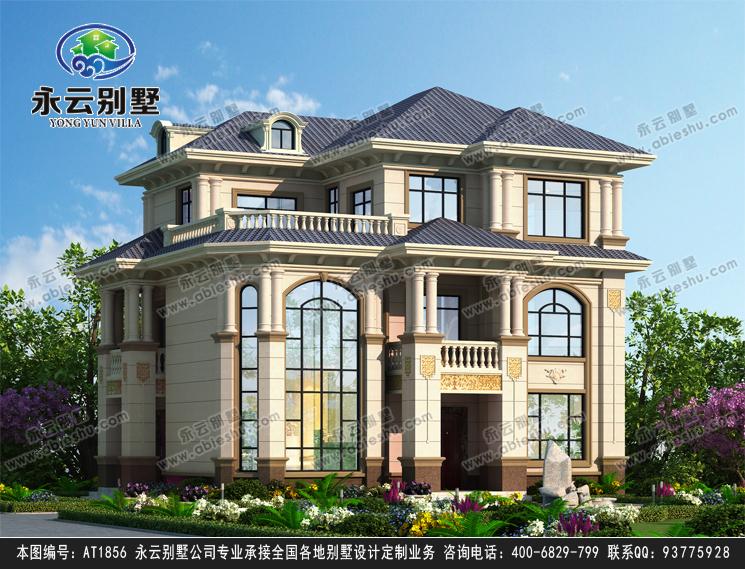 占地130平的三层欧式别墅,外形时尚,漂亮落地窗,实用小露台,建好就是地标建筑