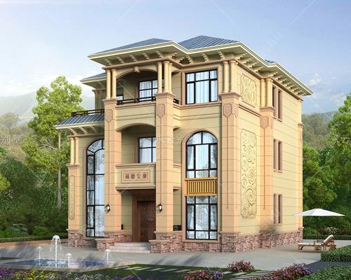 2021新款新农村三层欧式高档复式楼自建别墅全套建筑设计图纸