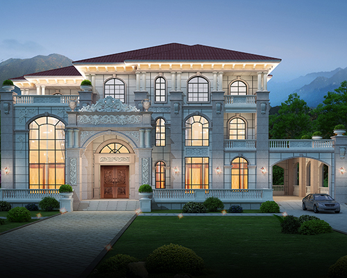 海南东方市欧式风格占地500平米三层豪宅大气别墅私人定制效果欣赏
