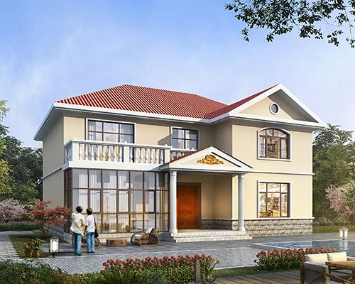 西藏林芝地区两层带烤火房简约别墅定制设计案例