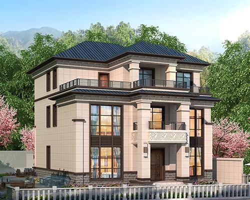 醴陵市因地制宜/超大架空层新中式三层经典别墅设计案例欣赏